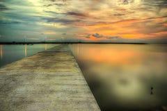Zonsondergang en zonsopgangmening Stock Afbeeldingen