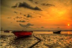 Zonsondergang en zonsopgangmening Royalty-vrije Stock Foto's