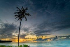 Zonsondergang en zonsopgangogenblik Stock Foto's