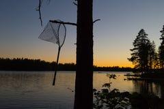 Zonsondergang in Finnland Stock Foto's