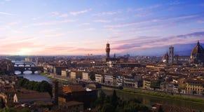 Zonsondergang Florence Royalty-vrije Stock Afbeeldingen