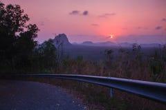 Zonsondergang in gezichtspunt in Prachuap Khiri Khan Province, Thailand Royalty-vrije Stock Afbeeldingen