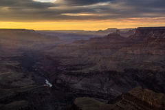 Zonsondergang Grand Canyon op Lipan-Punt (2) stock fotografie