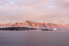 Zonsondergang Groenland royalty-vrije stock foto