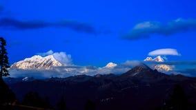 Zonsondergang in Gyala Peri stock foto