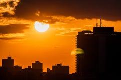 Zonsondergang in Havana, Cuba Stock Afbeeldingen