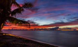 Zonsondergang Hawaï Stock Foto's