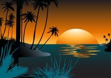 Zonsondergang in Hawaï Royalty-vrije Stock Fotografie
