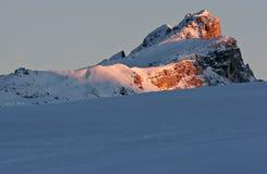 Zonsondergang in het Dolomiet Royalty-vrije Stock Foto's