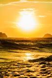 Zonsondergang in het overzees Stock Afbeelding