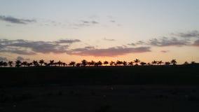 Zonsondergang in het paradijs Stock Fotografie