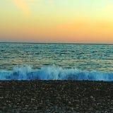 Zonsondergang in het strand Royalty-vrije Stock Afbeelding