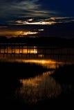 Zonsondergang in het Strand van Panama, Florida royalty-vrije stock foto