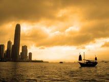 Zonsondergang in Hongkong Royalty-vrije Stock Foto