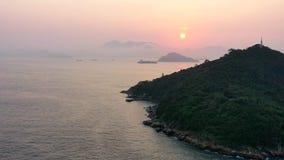 Zonsondergang in Hongkong