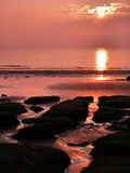Zonsondergang in Hunstanton Stock Foto