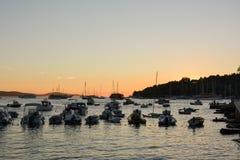 Zonsondergang in Hvar Royalty-vrije Stock Afbeeldingen