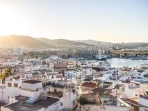 Zonsondergang in Ibiza Stock Afbeeldingen