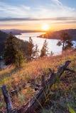 Zonsondergang in Idaho stock foto's