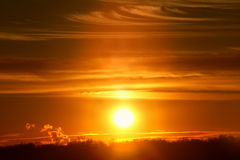 Zonsondergang in Illinois Royalty-vrije Stock Afbeeldingen