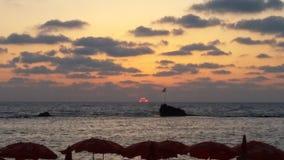 Zonsondergang in Israël Stock Afbeeldingen