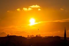 Zonsondergang in Istanboel Royalty-vrije Stock Foto