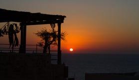 Zonsondergang in Jaffa. Royalty-vrije Stock Afbeelding