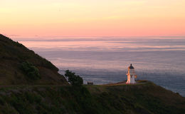 Zonsondergang in Kaap Reinga stock afbeeldingen