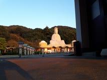 Zonsondergang in Kannon-Gedenkteken, Kyoto royalty-vrije stock fotografie