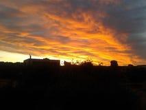 Zonsondergang Karoo Stock Afbeeldingen