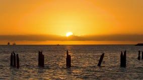 Zonsondergang in Key West stock footage