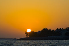 Zonsondergang in Key West Royalty-vrije Stock Foto's