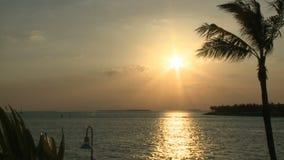 Zonsondergang in Key West stock video