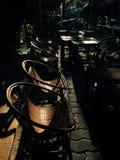 Zonsondergang, koffiewinkel, Vietnam, iphone 6 Stock Afbeelding