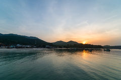 Zonsondergang in Koh Phangan Royalty-vrije Stock Foto's