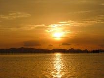 Zonsondergang in krabi Stock Foto's