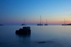 Zonsondergang in Kroatië Royalty-vrije Stock Foto's