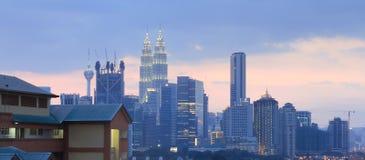 Zonsondergang in Kuala Lumpur City Malaysia Royalty-vrije Stock Foto's