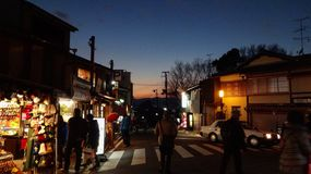 Zonsondergang in Kyoto Stock Foto's