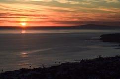 Zonsondergang in Laguna Beach Royalty-vrije Stock Afbeelding