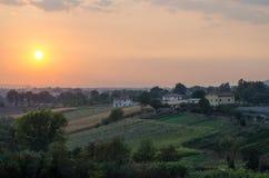 Zonsondergang in Lazio royalty-vrije stock afbeelding