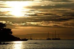 Zonsondergang in Lipe, Thailand Royalty-vrije Stock Afbeeldingen