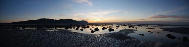 Zonsondergang in Llandudno. Wales Royalty-vrije Stock Afbeeldingen