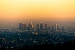 Zonsondergang in Los Angeles Royalty-vrije Stock Foto