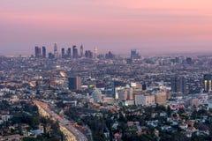 Zonsondergang in Los Angeles Stock Afbeeldingen