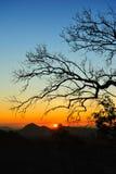 Zonsondergang in Maehongson Royalty-vrije Stock Afbeeldingen
