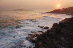 Zonsondergang in Maine stock foto's