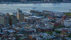 Zonsondergang in Manhattan stock videobeelden