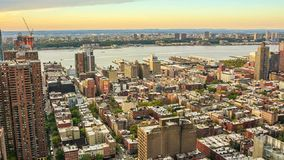 Zonsondergang in Manhattan stock footage