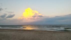 Zonsondergang in mariupol Stock Afbeeldingen